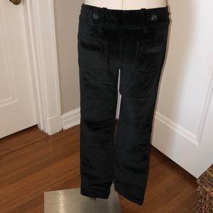 Old Navy black velvet stretch pants size 2